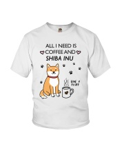 Coffee and Shiba Inu Youth T-Shirt thumbnail