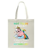 Unicorn rude Tote Bag thumbnail