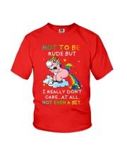Unicorn rude Youth T-Shirt thumbnail