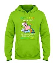 Unicorn rude Hooded Sweatshirt thumbnail