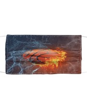 Basketball Fire Water T825 Cloth face mask front