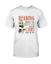Panda Reading Classic T-Shirt front