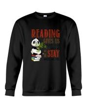 Panda Reading Crewneck Sweatshirt thumbnail