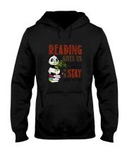 Panda Reading Hooded Sweatshirt thumbnail