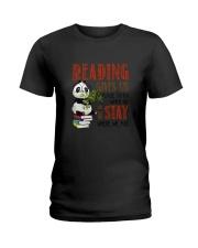 Panda Reading Ladies T-Shirt thumbnail