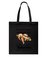 Sloth Lazy Tote Bag thumbnail