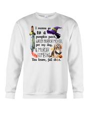 Havanese Pet My Dog Halloween Crewneck Sweatshirt thumbnail