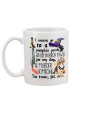 Havanese Pet My Dog Halloween Mug back