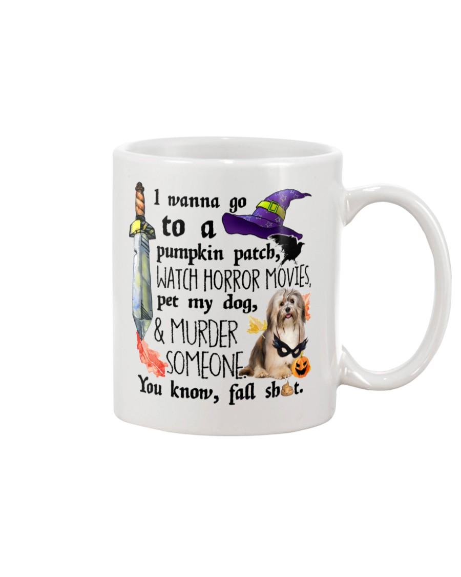 Havanese Pet My Dog Halloween Mug