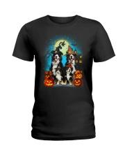Bernese Mountain Dog Halloween 19 Ladies T-Shirt thumbnail