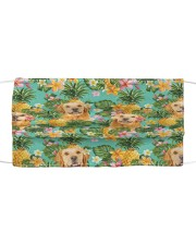 Tropical Pineapple Golden Retriever H25816 Cloth face mask front