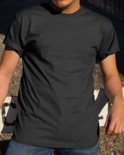 Staffordshire Bull Terrier Behind Flag Classic T-Shirt apparel-classic-tshirt-lifestyle-28