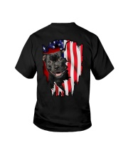 Staffordshire Bull Terrier Behind Flag Youth T-Shirt thumbnail