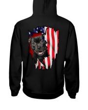 Staffordshire Bull Terrier Behind Flag Hooded Sweatshirt thumbnail