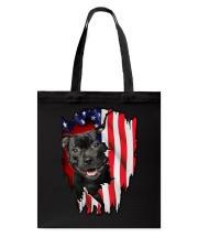 Staffordshire Bull Terrier Behind Flag Tote Bag thumbnail