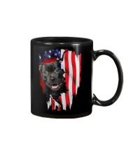 Staffordshire Bull Terrier Behind Flag Mug thumbnail