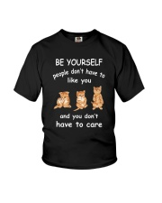 Be Yourself Cat Youth T-Shirt thumbnail