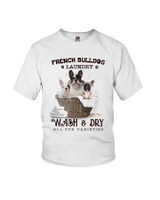 French Bulldog Camp Mau White Youth T-Shirt tile