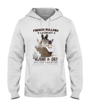 French Bulldog Camp Mau White Hooded Sweatshirt thumbnail