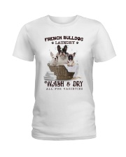 French Bulldog Camp Mau White Ladies T-Shirt thumbnail