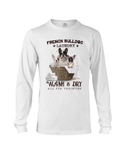 French Bulldog Camp Mau White Long Sleeve Tee thumbnail