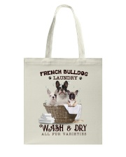 French Bulldog Camp Mau White Tote Bag thumbnail