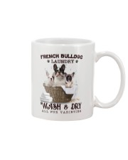 French Bulldog Camp Mau White Mug front
