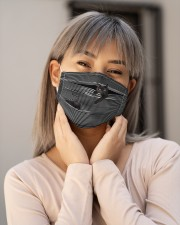 Black Cat Striped T820 Cloth face mask aos-face-mask-lifestyle-17