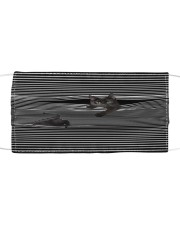 Black Cat Striped T820 Cloth face mask front