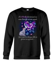 Elephant and Butterflies Crewneck Sweatshirt thumbnail