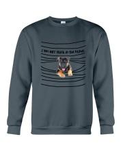 German Shepherd In The Blinds  Crewneck Sweatshirt thumbnail