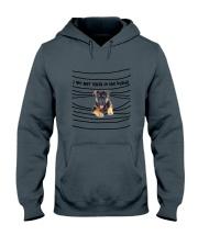 German Shepherd In The Blinds  Hooded Sweatshirt thumbnail