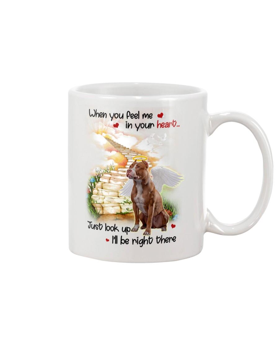 American Pit Bull Terrier Look Up Mug