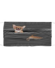 Chihuahua Striped T821  Cloth face mask front