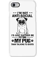 Pug Anti-social Phone Case thumbnail