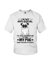 Pug Anti-social Youth T-Shirt thumbnail