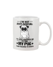 Pug Anti-social Mug thumbnail