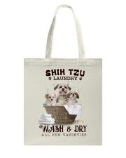 Shih Tzu Camp Mau White Tote Bag thumbnail