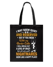 Border Collie Nightmare Tote Bag thumbnail