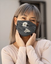 Bichon Frise Striped T821 Cloth face mask aos-face-mask-lifestyle-17