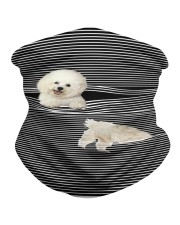 Bichon Frise Striped T821 Neck Gaiter thumbnail