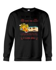 Camping To My Wife Crewneck Sweatshirt thumbnail