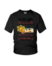 Camping To My Wife Youth T-Shirt thumbnail