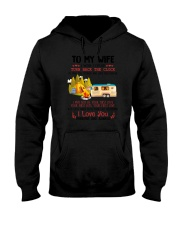 Camping To My Wife Hooded Sweatshirt thumbnail