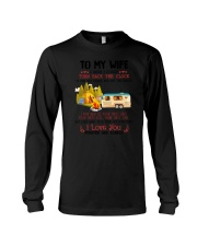 Camping To My Wife Long Sleeve Tee thumbnail