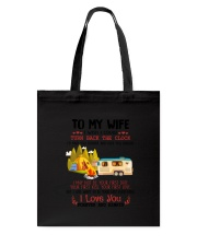 Camping To My Wife Tote Bag thumbnail