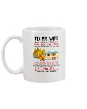 Camping To My Wife Mug back