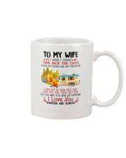 Camping To My Wife Mug front