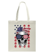 Skull USA Flag T5TO Tote Bag thumbnail