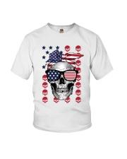 Skull USA Flag T5TO Youth T-Shirt thumbnail